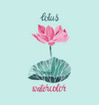 watercolor lotus flower isolated vector image