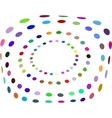 Abstract Halftone Circle Frame - Colorful vector image vector image