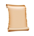 old blank scroll paper on white background vector image vector image