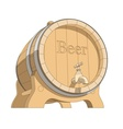 wooden tun with beer vector image