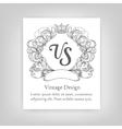 Vintage emblem monogram vector image