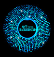 abstract blue ring background vector image