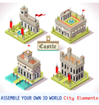 Castle 02 Tiles Isometric vector image