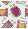 vintage tv drawing wallpaper vector image