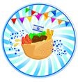 falafel in pita vector image