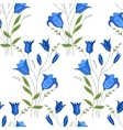 Seamless pattern with stylized cute bluebells vector image vector image