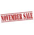 november sale stamp vector image