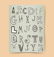 Sketch alphabet poster vector image