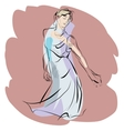 Woman dancing music vector image