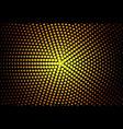 Gold halftone banner vector image