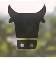 cow icon on blurred background vector image