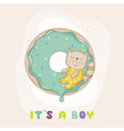Baby Shower or Arrival Card - Baby Cat vector image vector image