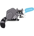hungry raccoon vector image vector image