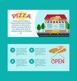 pizza house horizontal flyers vector image