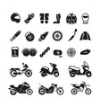racing motorcycle motorbike parts and vector image vector image