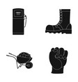 gas station boot and other web icon in black vector image