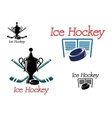 Ice hockey team emblems vector image vector image