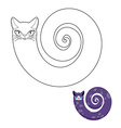 Cat breeds cat snake coloring book Fabulous pet vector image