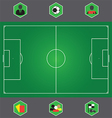 0408 Soccer icons vector image