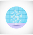 air bubbles flat icon vector image