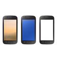Black smartphone collection isolated on white vector image