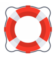 Classic Red Lifebuoy vector image