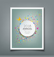 cover annual report colorful paper triangle vector image