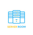 data center server room icon vector image