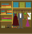 different clothes in flat style vector image