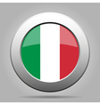 metal button with flag of Italy vector image