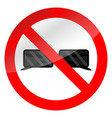 no glasses symbol vector image