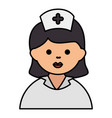 nurse beautiful avatar character vector image