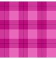 Pink tartan plaid vector image
