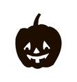 Pumpkin silhouette icon of the day halloween vector image