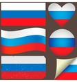 Russia flags set vector image