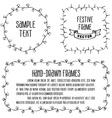 Sketchy frames Black and white vector image
