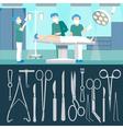 Surgery Operation Medicall Staff Hospital Room vector image