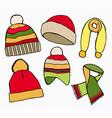 winter hat scarves vector image