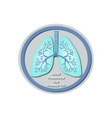 World Pneumonia Day - November 12 Lungs Baner vector image