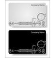 business cards for the engineer vector image vector image
