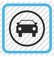 Car Icon In a Frame vector image