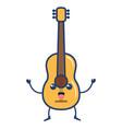 Guitar instrument kawaii character vector image
