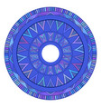 round boho ornament native pattern element for vector image