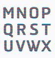 alphabet modern paper line colour concept style vector image vector image