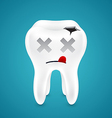 Dead from tooth holes vector image vector image