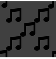 Music note web icon flat design Seamless pattern vector image