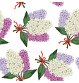 lilac bouquet pattern vector image vector image