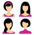 Woman faces vector image