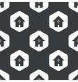Black hexagon christian house pattern vector image