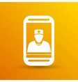 Cartoon phone doctor character vector image